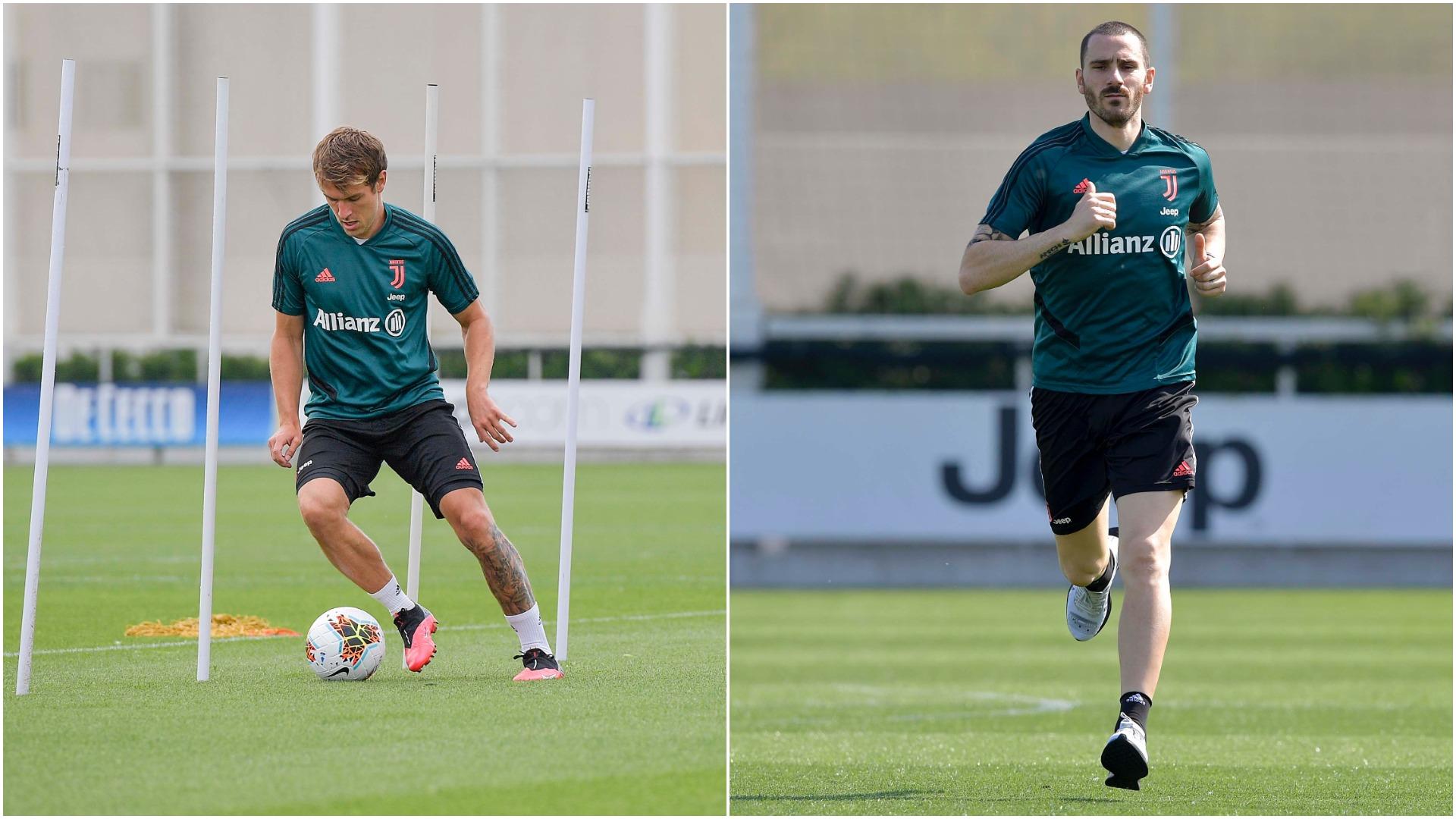 Juventus publikon fotot që na kishin munguar, Ramsey-Bonucci në stërvitje