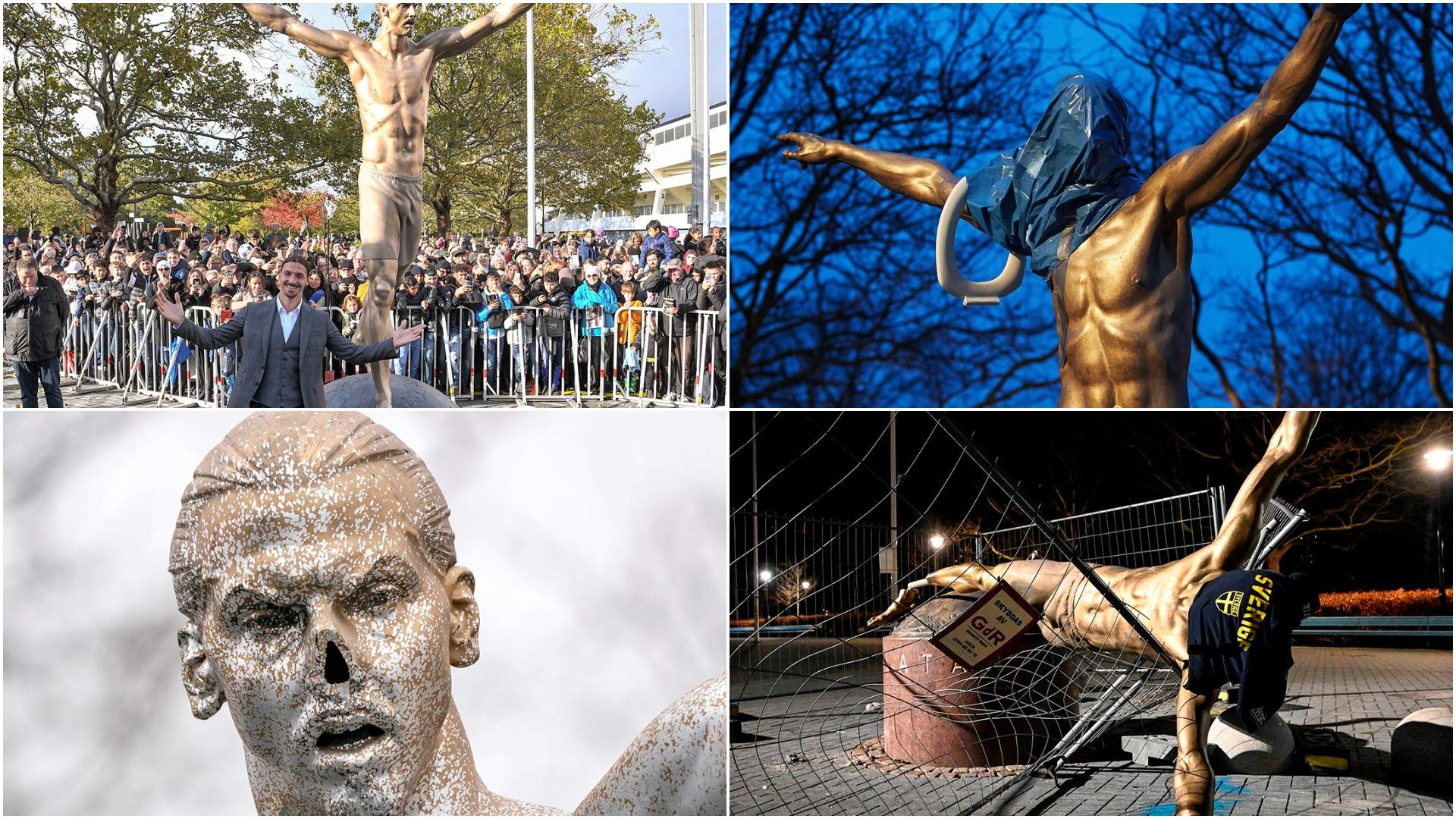 Sulme të vazhdueshme, autoritetet detyrohen të lëvizin statujën e Ibrahimovic