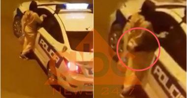 VIDEO / Skandal me patrullën e policisë, ndalon vajzën në mes të rrugës dhe bën skena të turpshme