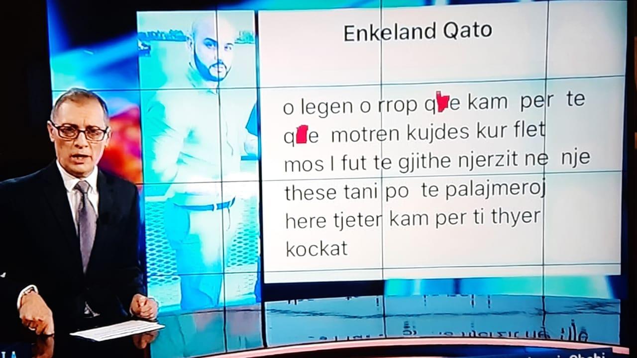 Kërcënohet Adi Krasta, gazetari lexon mesazhin live