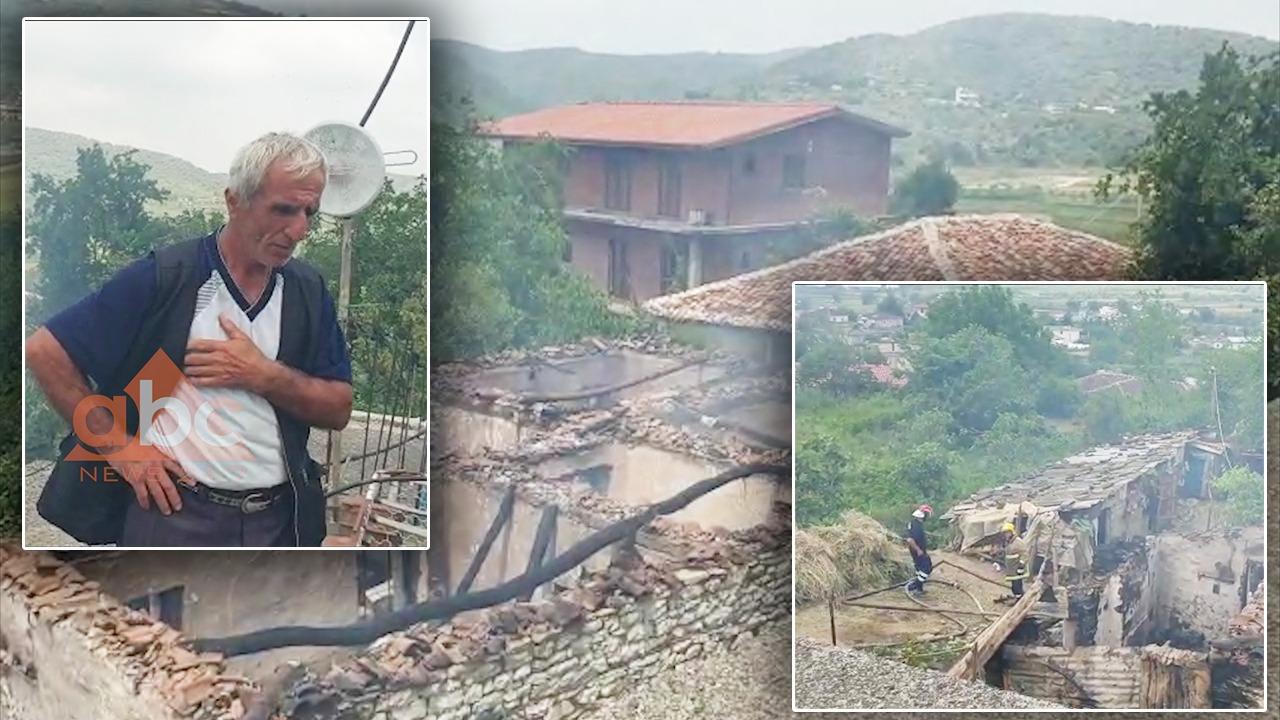 Shkrumbohet tërësish banesa në Berat, brenda ndodhej një grua e moshuar