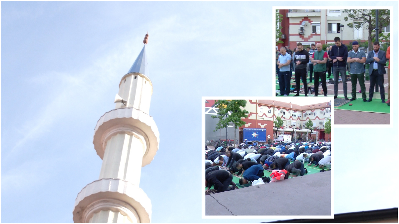 Besimtarët myslimanë festojnë Fitër Bajramin, qytetarët falin Namazin nëpër xhami