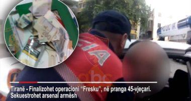 EMRI/Sekuestrohet arsenal armësh, arrestohet 45 vjeçari në Tiranë