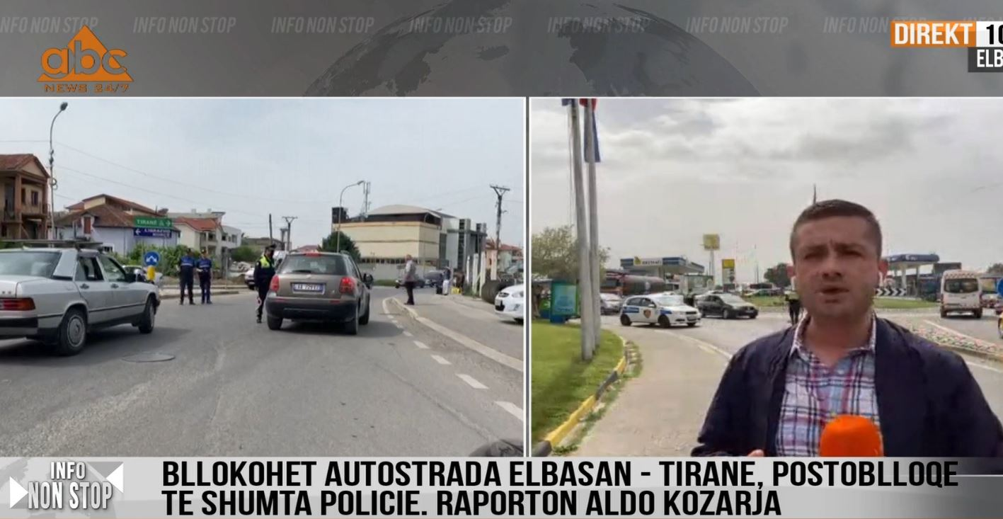 Sot lëvizet lirshëm, por policia bllokon rrugën Elbasan-Tiranë