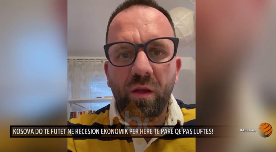 Berat Rukiqi, kryetar i odës ekonomike të Kosovës: Kosova do të futet në recesion ekonomik për herë të parë që pas luftës!