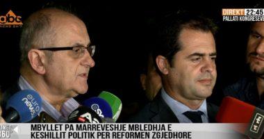 Përfundon mbledhja e Këshillit Politik pa marrëveshje, Bylykbashi e Vasili: PS nuk ka vullnet