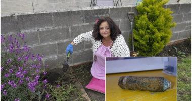 Gruaja me fat i shpëtoi një bombe të Luftës së Dytë Botërore të gjetur në kopshtin e saj