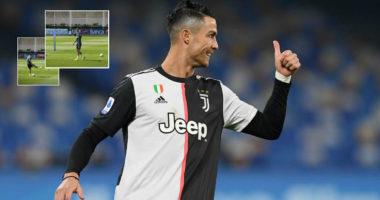 """VIDEO/ """"E lehtë, e lehtë"""", CR7 bën tifozët e Juventusit të fluturojnë"""