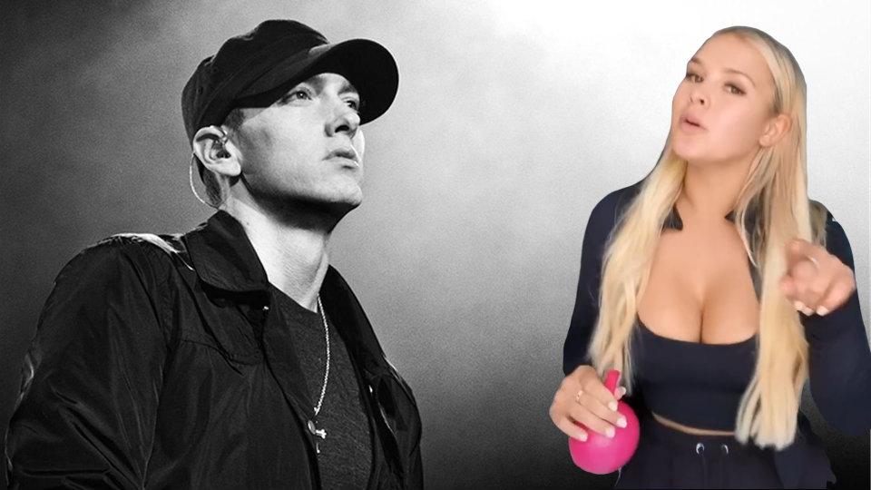 """VIDEO/ """"Eminem më prit"""", bukuroshja e Champions zbulon talentin e ri"""