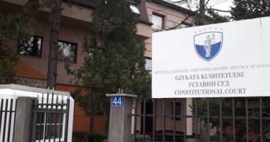 Përfundon mbledhja e Gjykatës Kushtetuese në Kosovë