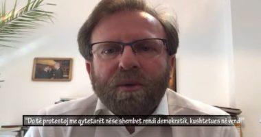 Abazi: Unë do të protestoj me qytetarët nëse shembet rendi demokratik, kushtetues në vend!