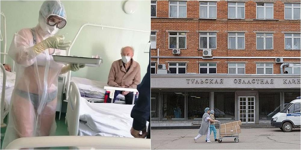 """""""Ishte shumë vapë"""", infermieria në Rusi habit pacientët me """"uniformën"""" e pazakontë"""