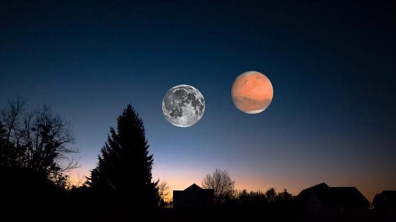 """""""Spektakël"""" në qiell, sonte mund të shihni Hënën dhe Marsin shumë pranë njëri-tjetrit"""