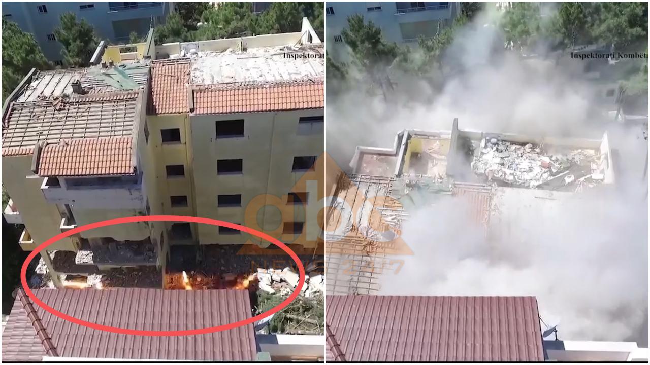 VIDEO / I pabanueshëm pas tërmetit, momenti i shkatërrimit me tritol të 6-katëshit në Durrës