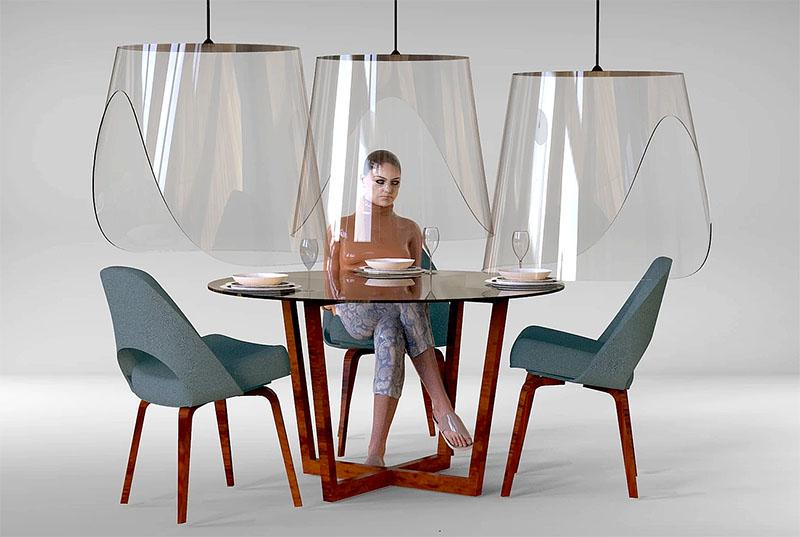 Dizajneri franzez ideon mbrojtësen speciale ndaj Covid 19, për klientët në restorant