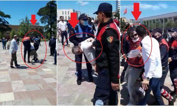 Protesta e shoqërisë civile në Sheshin Skënderbej, Meta: Dhuna e papranueshme