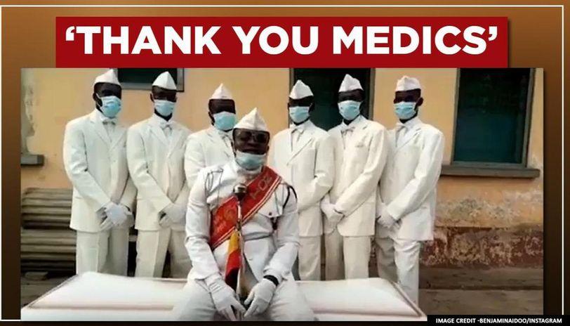 """""""Qëndroni në shtëpi, ose 'vallëzoni' me ne""""! Falenderim i veçantë për mjekët në Gana"""
