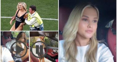 VIDEO/ Nga shiu, në breshër: Pushtuesja e Champions League i bën rreng shoqes