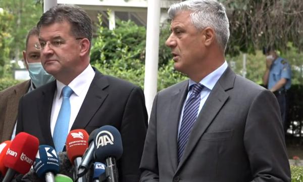 Takimi me Lajçak, Thaçi: Të bëhet sa më shpejt liberalizimi i vizave dhe të ketë njohje reciproke