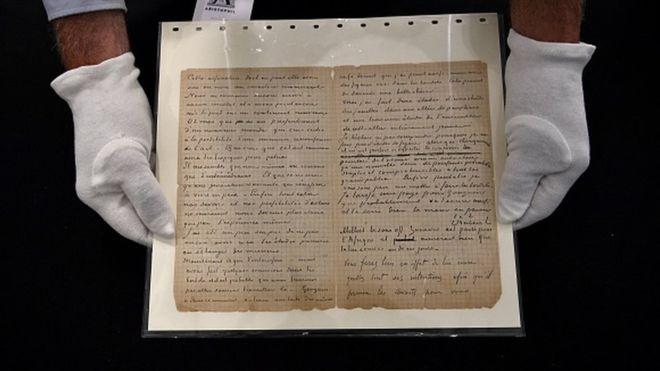Letra e Van Gogh për vizitat në shtëpitë publike shitet me çmim marramendës