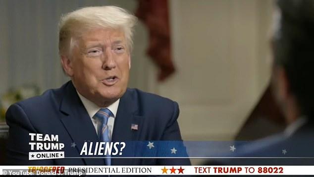 Trump: Kam dëgjuar gjëra interesante rreth ailienëve