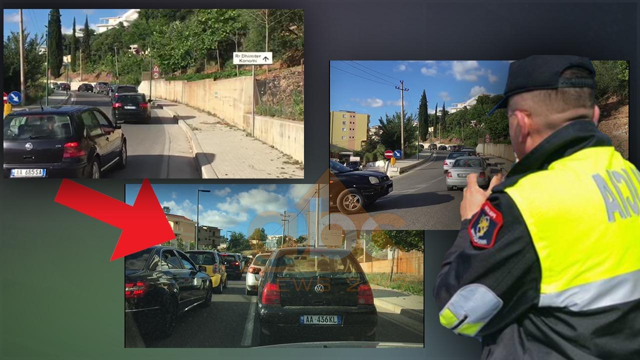 """VIDEO/ Radhë të shumta automjetesh! Trafiku """"zgjat udhëtimin"""" e turistëve në Vlorë"""