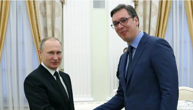 Kosovë-Serbi, Vuçiç bisedë telefonike me Putin