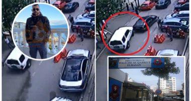 """VIDEO Ekskluzive/ Momenti kur i riu me shpejtësi """"skëterrë"""" çan derën e policisë në Elbasan"""
