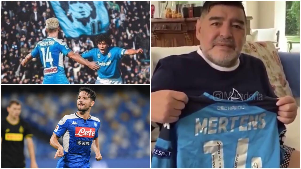 """VIDEO/ """"Krenar për ty, koha për titull"""", Maradona uron Mertens për rekordin"""