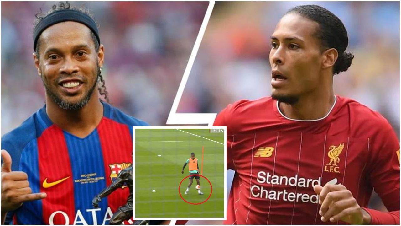 VIDEO/ Van Dijk apo Ronaldinho? Gjiganti i Liverpool dhuron spektakël