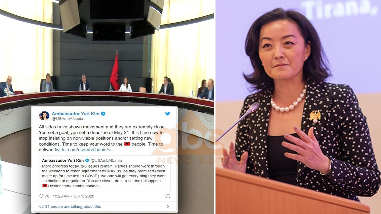 """Yuri Kim, mesazh të fortë partive për """"Zgjedhoren"""": Koha të mbani fjalën e dhënë"""