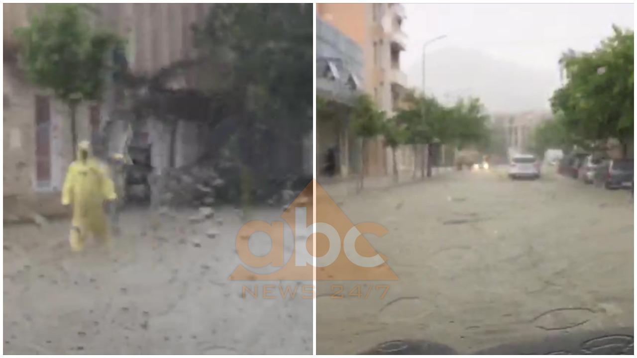 """""""Dy pika"""" shi përmbytin Beratin, breshëri shkatërron të mbjellat në Librazhd"""