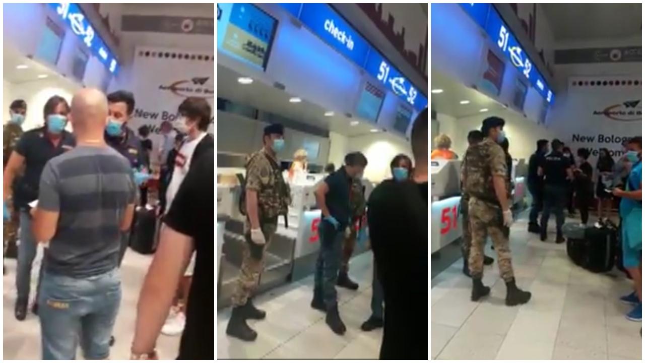 VIDEO/ Dhjetra shqiptarë të bllokuar në aeroportin e Bolonjas, më shumë bileta se kapaciteti i avionit