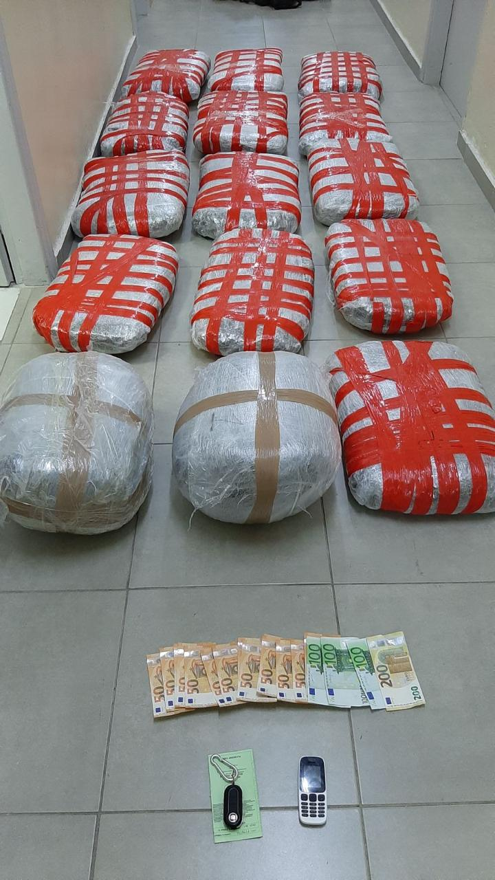 Sekuestrohen 81 kg lëndë narkotike në kufirin greko-shqiptar, arrestohet një 52-vjeçar