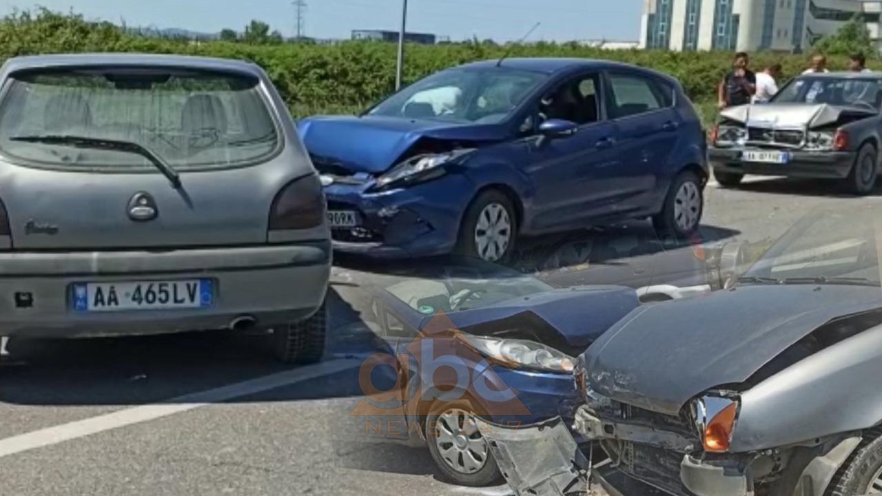 VIDEO/ Aksident i trefishtë në Laç, 2 të plagosur