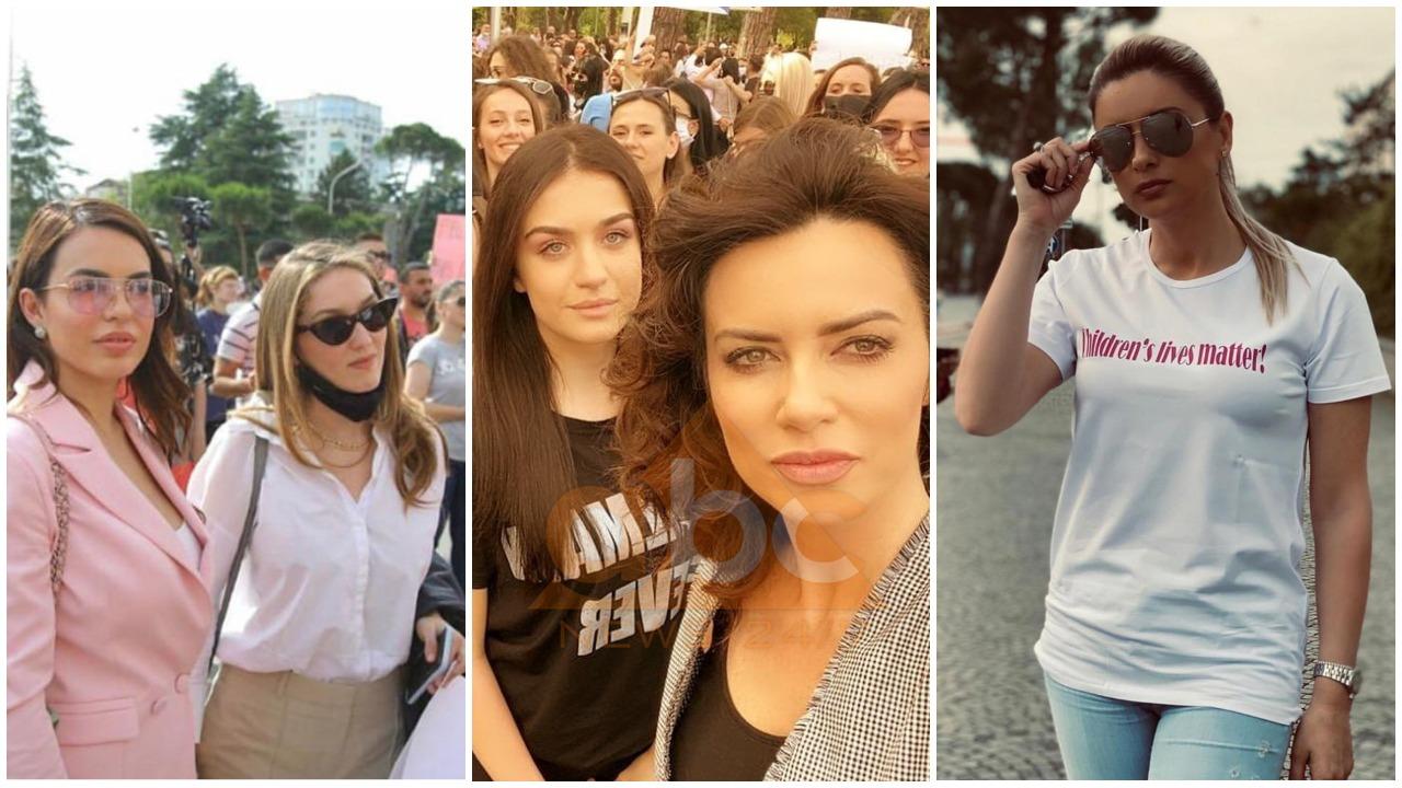 FOTO/ Arbana Osmani, Eli Fara e Grida Duma, VIP-at që protestuan për abuzimin e të miturës