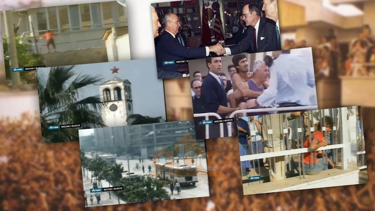 Rrëzimi i mureve: 30 vjet nga dita kur shqiptarët mësynë ambasadat – Vetting