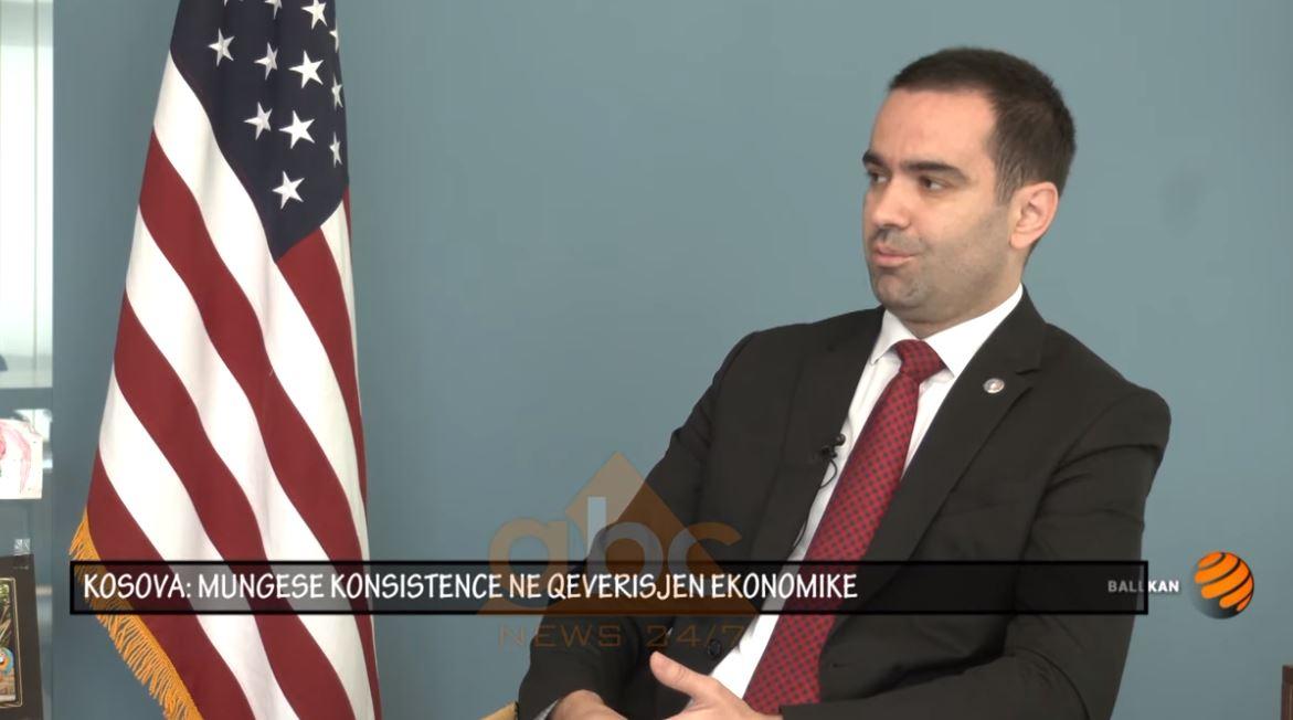 Arian Zeka, kryetar i odës ekonomike amerikane: Kosova nuk ka konsistencë në qeverisjen ekonomike
