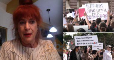 Marshimi kundër dhunës ndaj grave, Arbana: Mesazh shumë i fortë