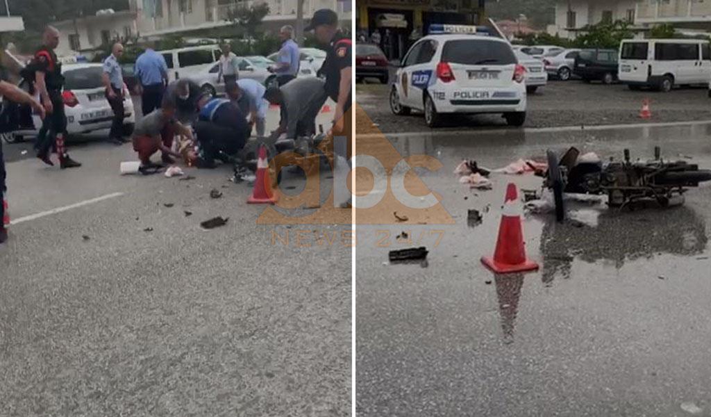 VIDEO/ U përplas me makinën e policisë, ndërron jetë drejtuesi i motorit
