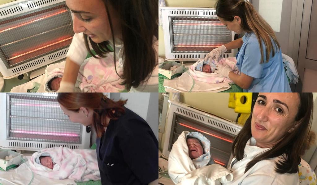 FOTO/ Tërmeti shkatërroi spitalin, fëmijët në Laç lindin në kushte skandaloze