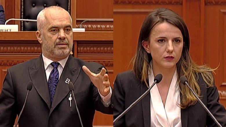 Kryeministri Rama ironizon Rudina Hajdarin: Po zonja Topalli!