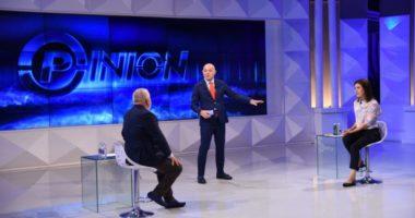 Blendi Fevziu ndjen lëkundjet e tokës live në emision:Tërmet, tërmet