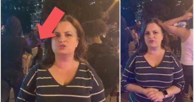 Po raportonte LIVE mbi protestat, e pazakontë çfarë ndodhi pas shpinës së gazetares shqiptare