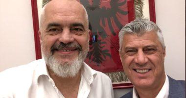 """""""Pas një bashkëbisedimi si gjithnjë vëllazëror"""", Rama publikon foton me presidentin Thaçi"""