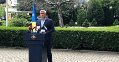 Thaçi: Kurti të heqë dorë nga zyra, ti dorëzojë mandatin kryeministrit Hoti