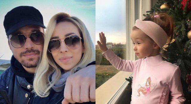 """""""Dashuria e babit"""", Alban Skënderaj publikon foton e ëmbël me Amelinë nga pishina"""