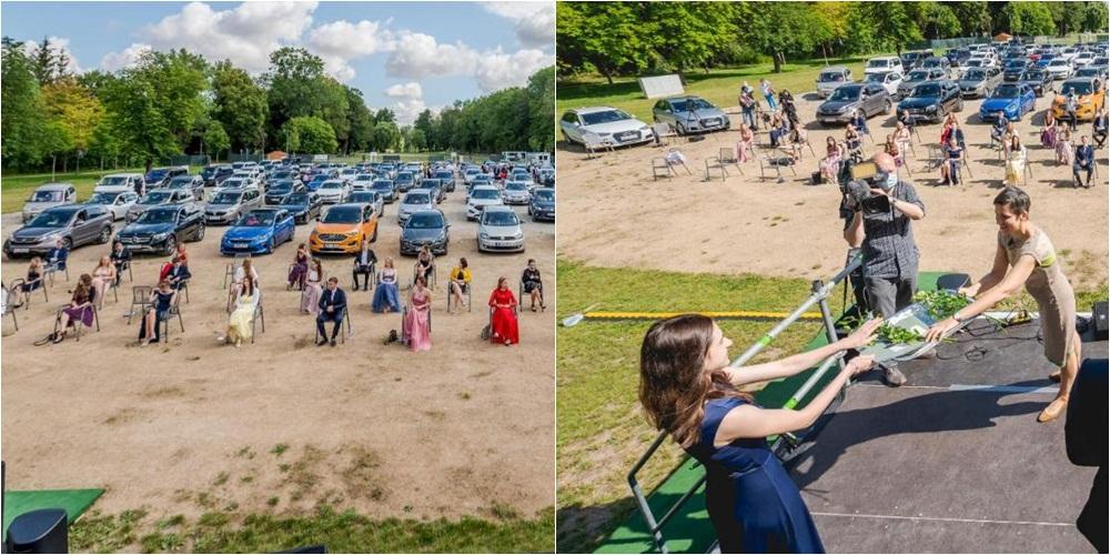 Ceremonia e pazakontë e diplomimit të maturantëve në Gjermani në kohë pandemie