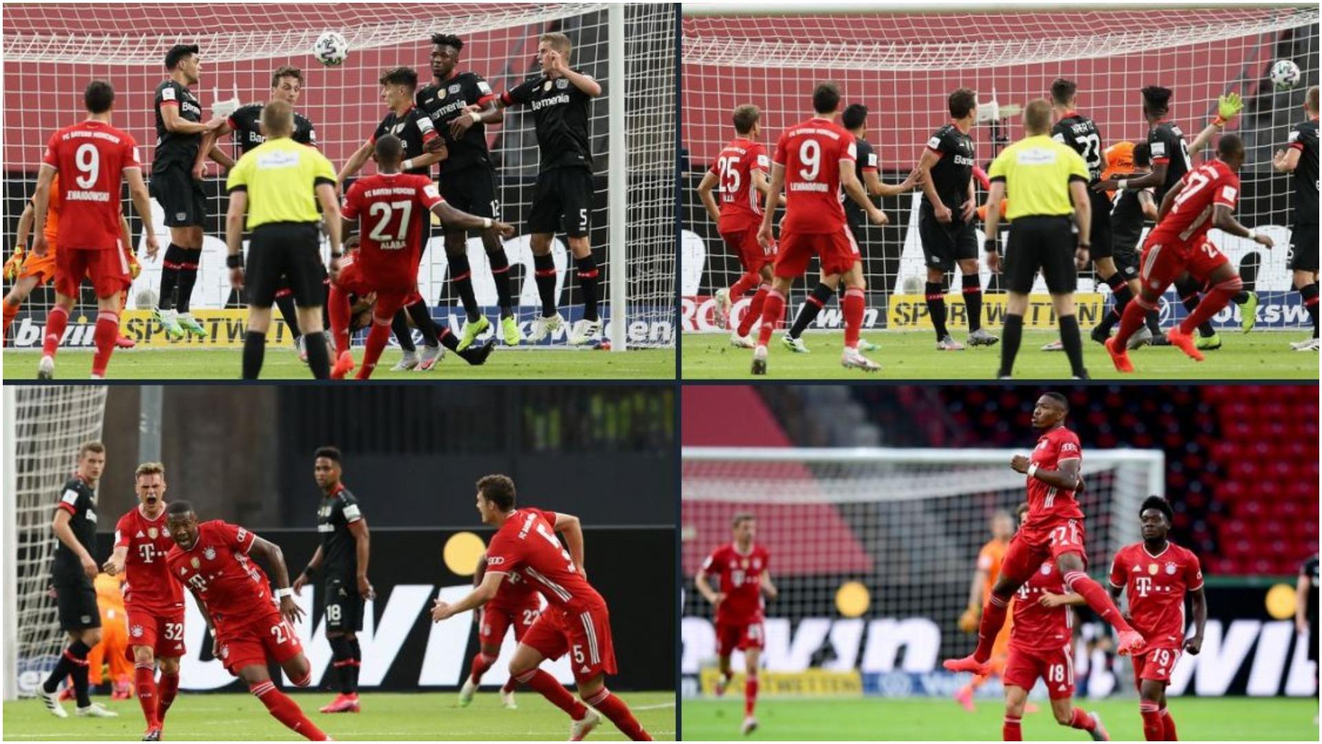 """VIDEO/ Supergol i Alaba, Bayern """"kafshon"""" i pari në finalen e Kupës"""