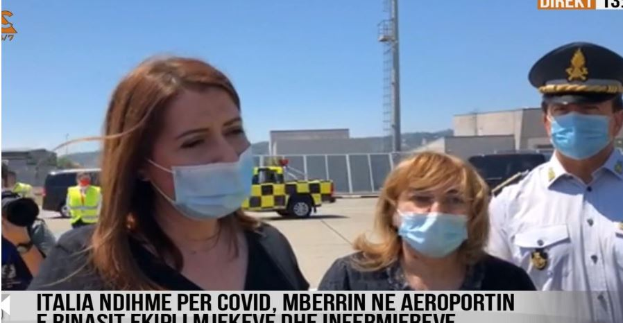 Italy sends medical team to Albania to help fight against coronavirus infections